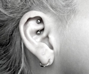 ear, piercing, and rook image