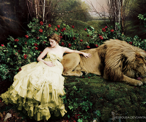 lion, beauty and the beast, and drew barrymore image