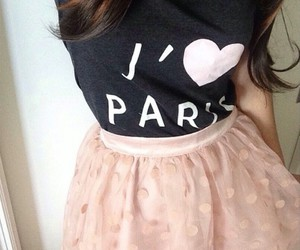 paris, light pink skirts, and brown highlights image
