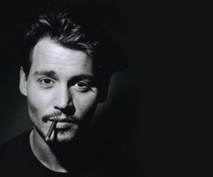 johnny depp, sexy, and black and white image