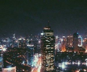 city, citylights, and indonesia image