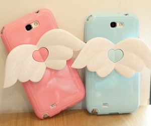case, cute, and wings image