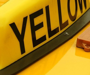 yellow, cab, and taxi image