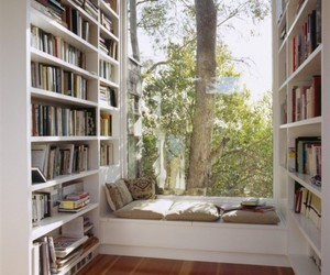 books, relax, and trees image