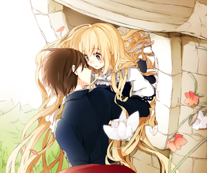anime, rapunzel, and couple image