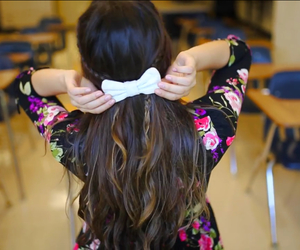 arab, bow, and brunette image