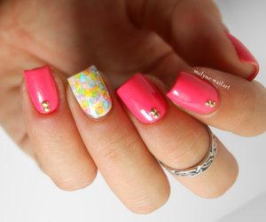bubbles, coral, and nails image