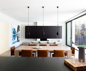 dining room, home, and living room image