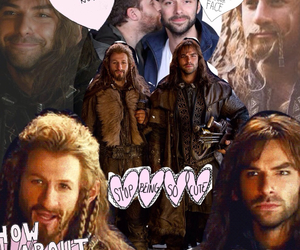 the hobbit, aidan turner, and fili image