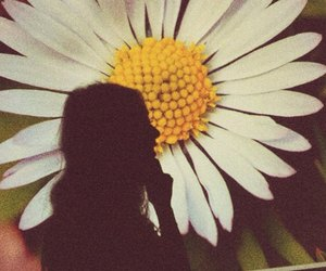girl and flower image