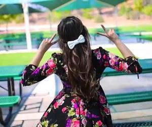 bow, dress, and bethany mota image