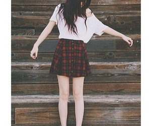 outfit, skirt, and grunge image