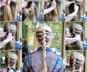 braid, girly, and hairstyle image