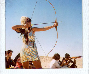girl, archery, and arrow image
