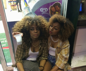 friends, curly hair, and girl image