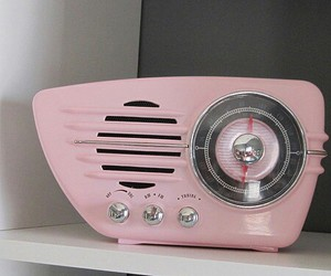pink, vintage, and radio image