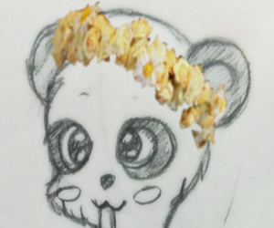 panda and flowercrown image