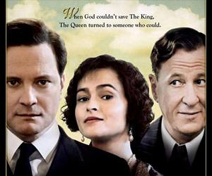 Colin Firth, geoffrey rush, and helena bonham carter image