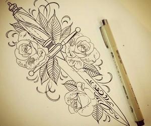 espada, roses, and tattoo image