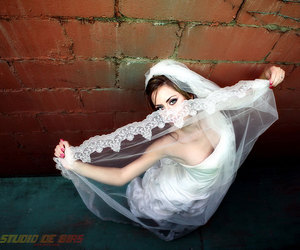 bride, creative, and pose image