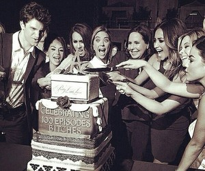 pretty little liars, lucy hale, and cake image