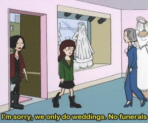 Daria, grunge, and funeral image