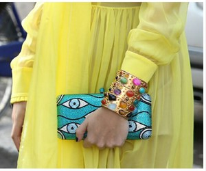 clutch, colorful, and fashion image
