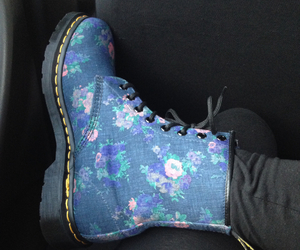 blue, docs, and dr martens image