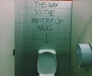 harry potter, toilet, and harry potter funny image