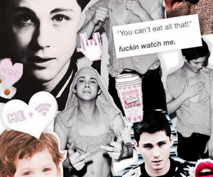 Collage, logan, and pink image