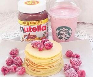 nutella, starbucks, and food image