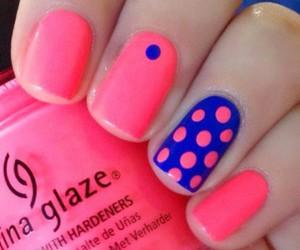 blue, pink, and nail art image