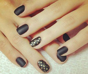 black, cute, and nails image