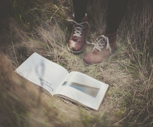 black, book, and boots image