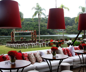 decor, marriage, and red image
