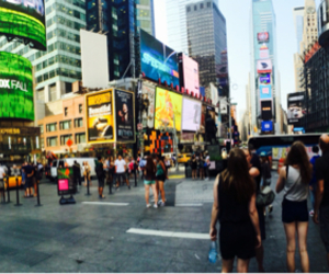 billboards, busy, and new york image