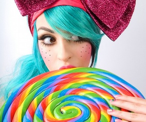 raquel reed, lollipop, and candy image