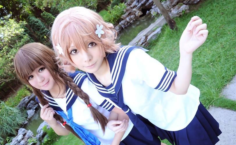 Hana Saku Iroha Nako Oshimizu And Ohana Matsumae Cosplay Via Facebook