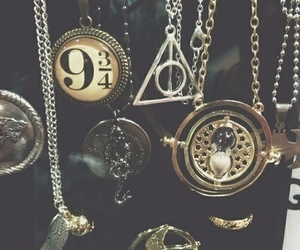 harry potter, magic, and necklace image