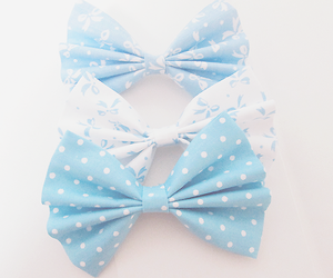 blue, girl, and bow image