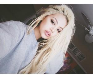 girl, blonde, and make up image