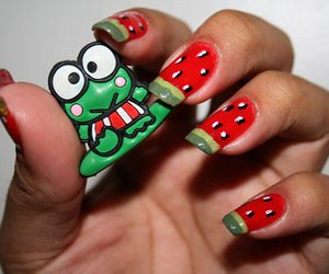 nails, watermelon, and frog image
