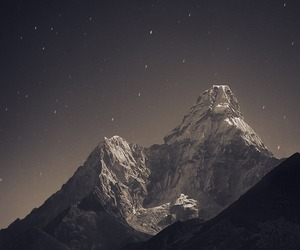 mountains, stars, and night image