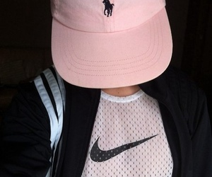 girl, nike, and snapback image