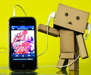 music, danbo, and iphone image