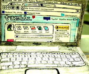 computer, laptop, and tumblr image
