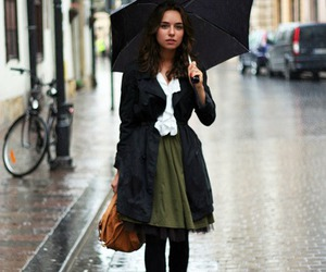fashion, rain, and umbrella image