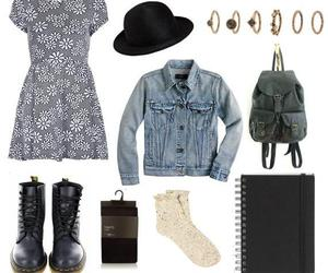 hat, Polyvore, and martens image