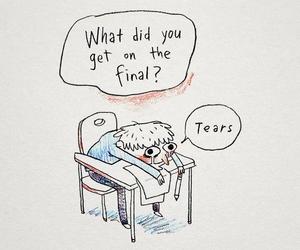 exam, sad, and tears image