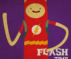 adventure time and flash time image